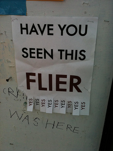 Have you seen this flier